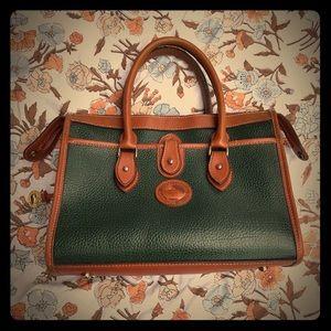 Dooney & Bourke Vintage Green Brown Leather Purse